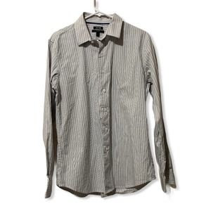 Apt 9 Striped Button Up Dress Shirt